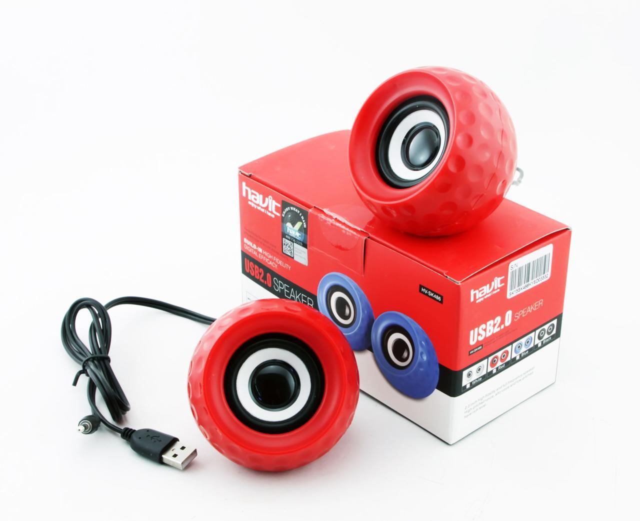 Колонки Havit HV-SK486, Red, USB, 2x3 Вт, регулятор громкости
