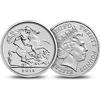 Серебряная монета - 20 фунтов стерлингов 2013 года