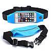 Сумка на пояс для смартфонов с сенсорным экраном RunBelt голубая