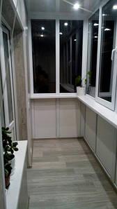 """Остекление по типу """"Французский балкон"""" (г. Киев) 10,56м2"""
