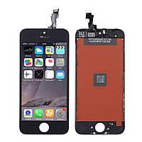 Дисплей для iPhone 5C + Touchscreen, черный, копия высокого качества