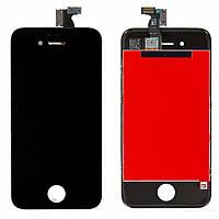 Дисплей для iPhone 4S + Touchscreen черный, копия высокого качества