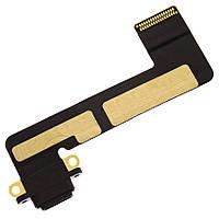 Шлейф для iPad Mini , с разъемом заряда, черный