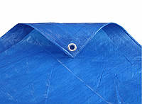 Тент, размер 8х10 Синий, Тарпаулин 75 плотности с люверсами., фото 1