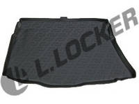 Резиновый коврик в багажник Kia Ceed Luxe (HB) 12-  Lada Locer (Локер)