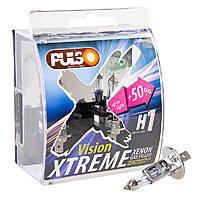 Галогенка H1 PULSO 12V 55W +50% LP-12553  X-treme Vision/plastic box (пара)