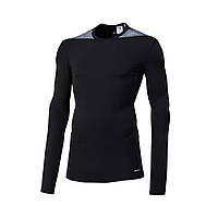 Компрессионная футболка Adidas TF Base LS TechFit длинный рукав (Черная)