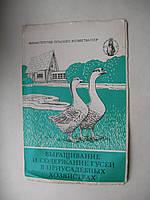 Буклет Выращивание и содержание гусей в приусадебных хозяйствах