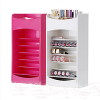 Пластиковый органайзер для хранения косметики Cosmake Lipstick & Nail Polish Organizer, фото 1