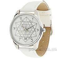 Часы ZIZ маст-хэв Геометрия 1414102 белый, серебро