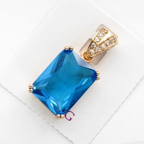 Кулон xuping подвеска с голубым камнем 5174