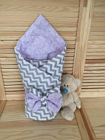 Конверт-одеяло двустороннее Волна, фиолетовый