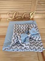 Конверт-одеяло двустороннее Волна, голубой