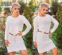 Платье вязаное норма+батал р3810