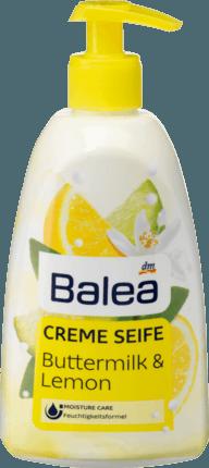 Balea Creme Seife Flüssigseife Buttermilk & Lemon Жидкое мыло пахты & лимон 500ml