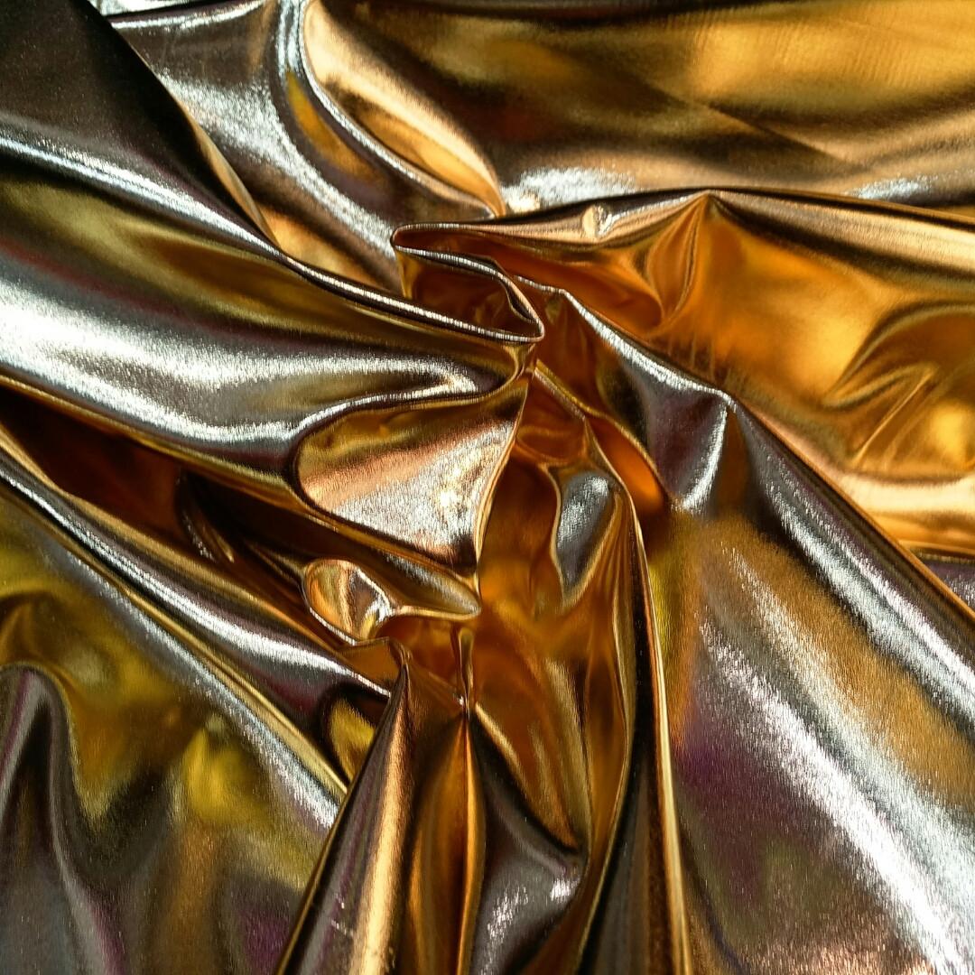 Кожзам стрейч золотий