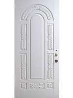 """Элитные уличные входные двери (массив ясеня) модель """"Флоренция 1"""" белая"""