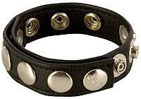 Кожаное эрекционное кольцо COLT 8 SNAP FASTENER LEATHER STRAP