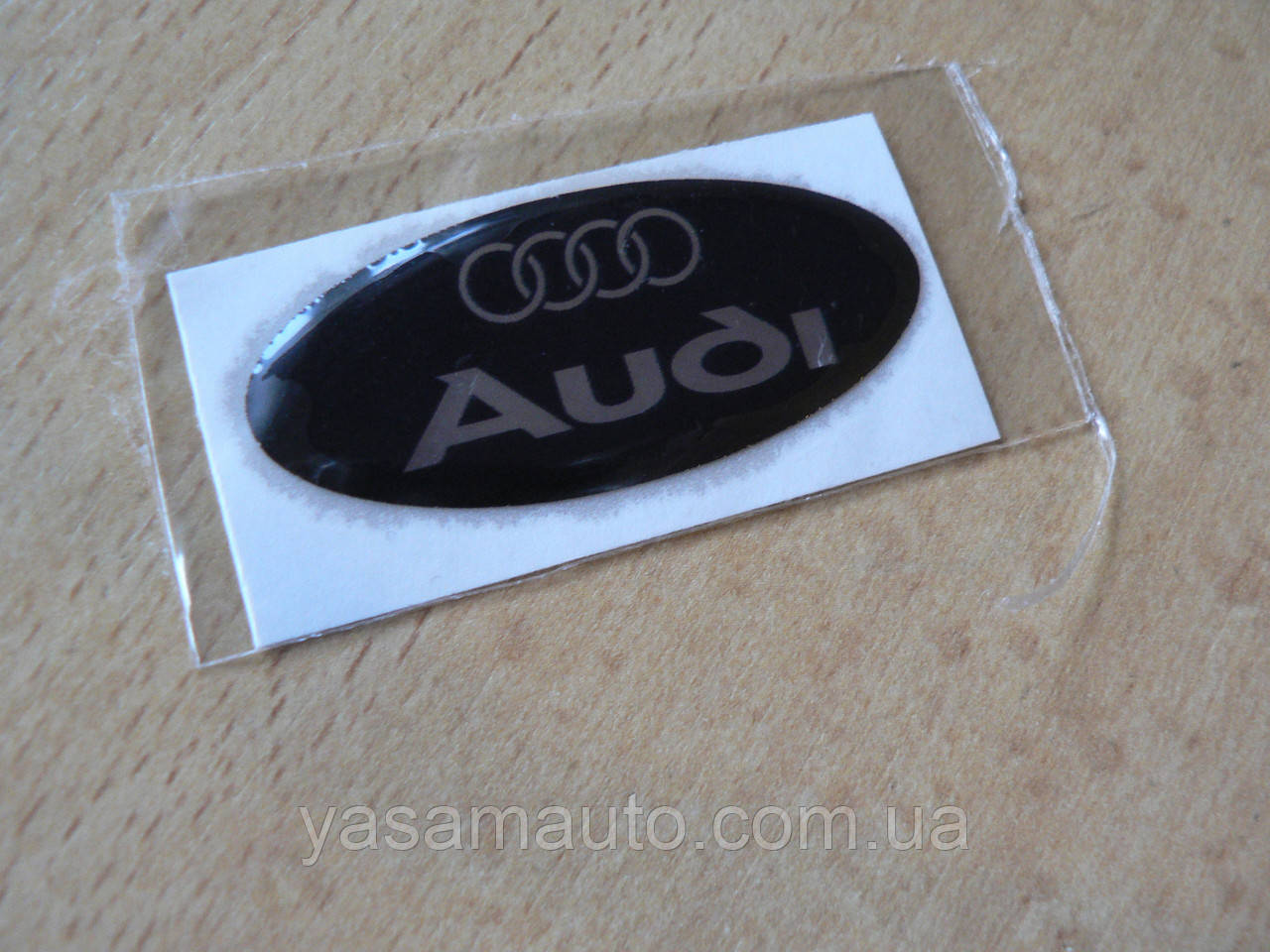 Наклейка s надпись овал AUDI 45х20х1.2мм силиконовая эмблема логотип марка бренд на авто Ауди серебристая