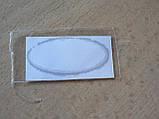 Наклейка s надпись овал AUDI 45х20х1.2мм силиконовая эмблема логотип марка бренд на авто Ауди серебристая, фото 4