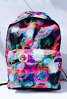 Ранец Рюкзак Стильный Городской мягкий с карманом, подростковый Круги DSCN0617-B-2
