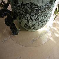 Защитный прозрачный коврик для цветочного горшка 40см. круг