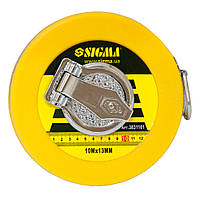 Рулетка стекловолокно Sigma 10м*13мм (3831101)