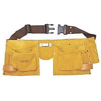 Пояс слесарный кожаный 11 карманов Grad (9450765)