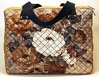 Джинсовая сумочка шоппер Путешественник
