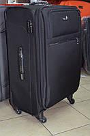 Большой чёрный чемодан Leaves King