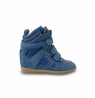 Кроссовки женские Isabel Marant маранты синие замшевые