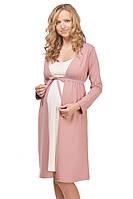 Халат для беременных кофейный хлопок 95% эластан 5% размеры 42-50