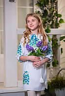 Платье вышиванка детское Васильки (размер 158)