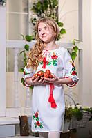 Платье вышиванка детское Маки с колоском