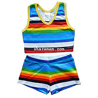 Топ + шорти для дівчинки, зріст 104-116 см, фото 1
