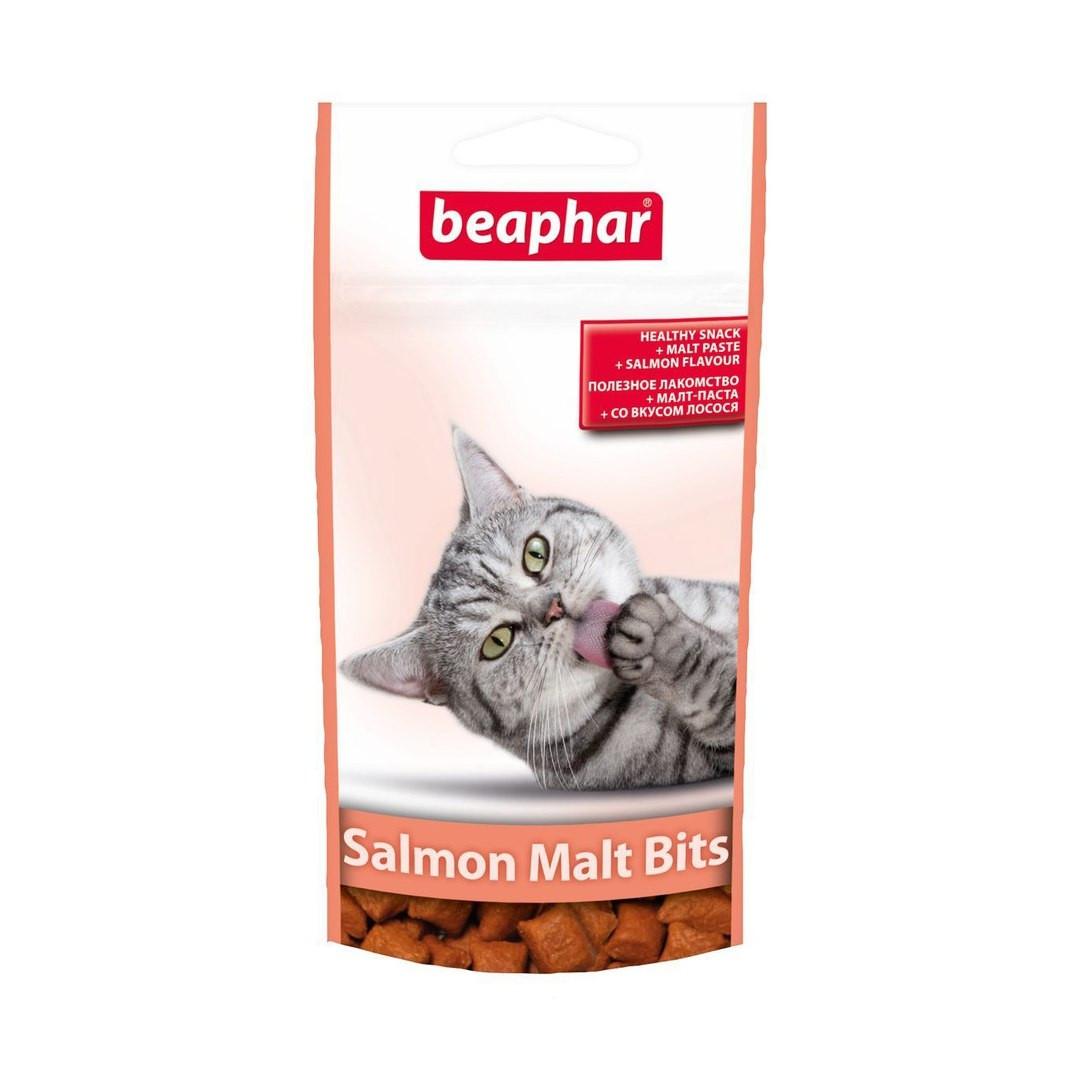 Salmon Malt Bits вкусные и полезные подушечки со вкусом лосося и мальт-пастой Beaphar