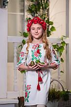 Платье вышиванка детское Роза большая (размер 116)