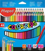 Карандаши цветные, 48 цветов (Maped, COLOR PEPS Classic, MP.832048)