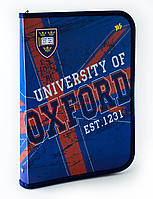 "491156 Папка для труда пласт, на молнии  с внутр, карманом А4 ""Oxford"""