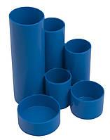Подставка пласт канцелярская синий