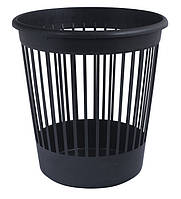 Корзина для бумаг Арника офисная 10л пластик черный (82061)