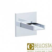 Каскадный открытый излив для ванны, настенного монтажа, для высокого потока Bellosta Beethoven 01-7703/AP Хром