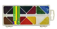 Краски акварельные ZiBi 18 цветов пласт.кор белый ZB.6523