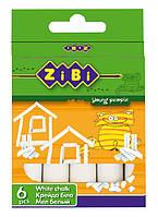 Мел белый (ZiBi, для школьной доски, 6 шт., ZB.6701-12)