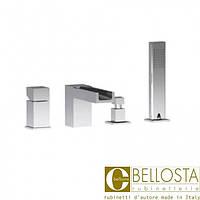 Смеситель с установкой на борту ванны, на четыре отдельные розетки Bellosta Beethoven 01-7701/2/A Хром