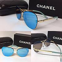 """Очки авиаторы синие """"Chanel"""""""