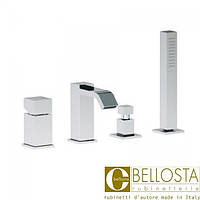 Смеситель для установки на борт ванны в четыре отверстия Bellosta B-Uno 01-7901/2/A Хром