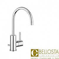 Высокий смеситель для раковины с донным клапаном, поворотный излив Bellosta Bambu 01-0405/4/C Хром