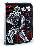 "491198 Папка для труда пласт, на молнии  с внутр, карманом А4 ""Star wars"""