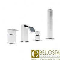 Смеситель для установки на борт ванны в четыре отверстия Bellosta B-Due 01-7901/2/AL Хром